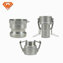 Conectores de manguera rápidos de acero inoxidable SS316 / 304