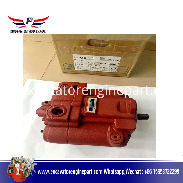 PVK-2B-505 Hydraulic main pump assy PVK-2B-505-N-4554C piston pump YUCHAI 50 60 ZX55 main pump assy for NACHI