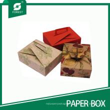 Caja de papel impresa respetuosa del medio ambiente para el postre de los pasteles con la manija
