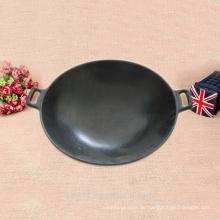 37cm Chinesischer schwarzer Wok benutzt für Gas und Induktion