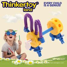 Cute Dog Model Education Toy pour enfants Plastic Block Toys