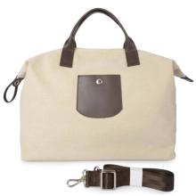 Hard canvas bag for travel