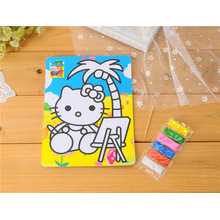 children's cartoon yellow sand painting children's safety and environmental protection DIY manual sand painting patterns