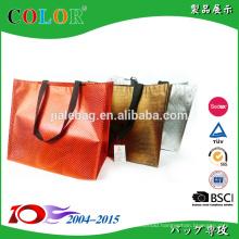 fashion aluminium plating on PP Woven Shopping Bag