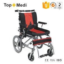 Equipamento médico Deluxe Cadeira de rodas elétrica dobrável de alumínio leve
