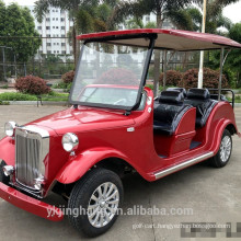 4 passenger electric white vintage classic car for sale