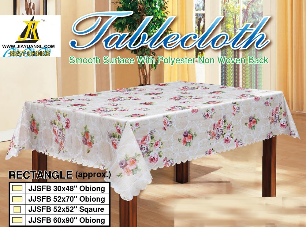 Readymade Printed Tablecloth with Scallop Edge
