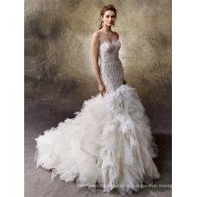 Бисер Русалка Складка Вечерние Свадебные Свадебное Платье