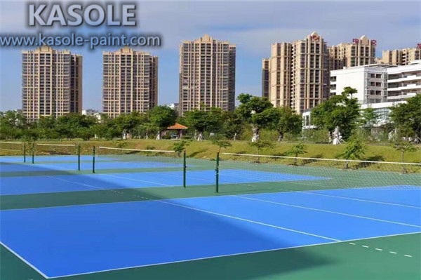 Silicon Pu Outdoor Basketball Sports Rubber Flooring