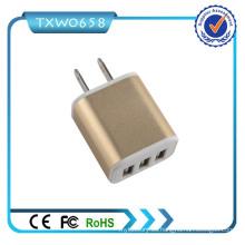 Cargador móvil 3 cargador de la pared del USB 5V 2.1A USB