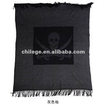 high quaity woven cashmere printed bed throws blankets