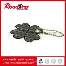 Hohe Leuchtdichte reflektierende Schlüsselanhänger, reflektierende Abzeichen, reflektierende Schlüsselanhänger