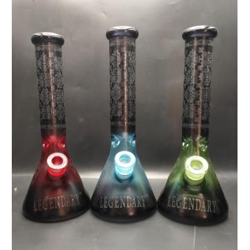 Bunte fluoreszierende Glasbecher-Basis-Bongs