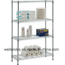 4 Tiers Adjustable Metal Steel Storage Rack Fabricante