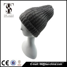 Fabric blends gray color of winter men hat