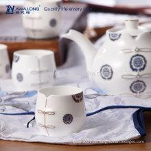 Blaue Malerei Ostart-feine Knochen-China-personalisierte Teetasse-Untertasse-Satz