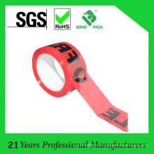 O logotipo feito sob encomenda imprimiu a fita frágil silenciosa de embalagem de baixo nível de ruído