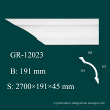 High Density Fireproof Indoor and Outdoor Decorative Castable PU Plain Cornice Mouldings