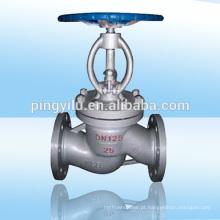 Válvula de globo motorizada manuais de aço fundido flange final levantando haste válvula globo haste de segurança de precisão para pipeline