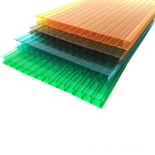 Color can be customized, anti-fog, high light transmittance, multi-wall polycarbonate sheet can be used for vegetable greenhouse