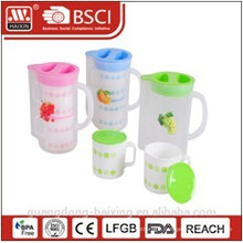 plastic water kettle 1.4Lwith 2 cups