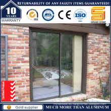 Puerta de vidrio de vidrio deslizante de aluminio