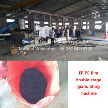 Double Stage Plastic PP PE Film Granules Making Granulating Recycling Machine
