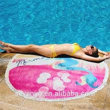 Cotton Mermaid Beach Yoga Towel Round Bed Sheet Tassel Tapestry Tablecloth Sunscreen Shawl BT-556 China Supplier