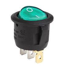 12V Green Lighted Round Rocker Toggle Switch Car Truck RV Boat ATV Home