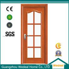 Стеклоткани/стеклянный деревянный полный облегченной межкомнатной двери для проекта гостиницы