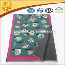 Drucken in der Vorderseite Frauen Quasten Wrap Schal Schals Cooton Viskose Schal