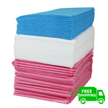 nonwoven manufacture FREE SHIPPING Waterproof pp pe non woven fabric  disposable bad sheets nonwoven bad sheet 80*180