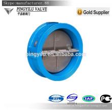 Ductile ferro wafer tipo dupla placa mola carregado borboleta set válvula de retenção preço