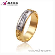 New Design Xuping Fashion Single-Row Diamond Male Ring with Multicolor