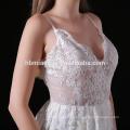 2017 en gros chaozhou femmes satin longue perlée dentelle côté fente sexy longue robe de soirée