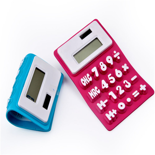 Dual Power Flexible Silicone Calculator