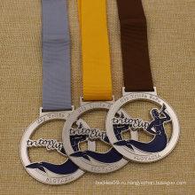 Дешевый изготовленный на заказ 2-дюймовый металлический полый Медали золото серебро Бронза