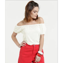 Frauen Chiffon Off Shoulder Bluse im Sommer