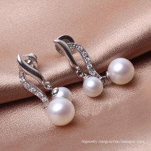 Double Pearls Silver Earrings