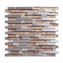 Newest Coming Metal Mix Glass Mosaic Wall with Best Quality for House Decoration