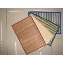 Alta qualidade barata handmade natural bambu retângulo isolamento térmico placemat