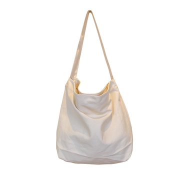 Solid Color Canvas Shopping Shoulder Bags