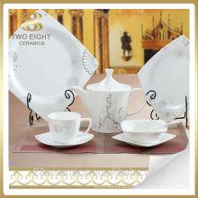 Articles de table en céramique, plat de plat de porcelaine de restaurant, hôtel restaurant porcelaine