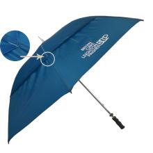 Paraguas de golf ventilados de aire azul marino, paraguas de golf de bunnings de 2 capas de eje largo