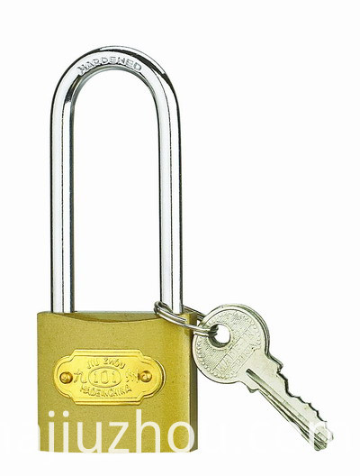 iron padlock with long shackle