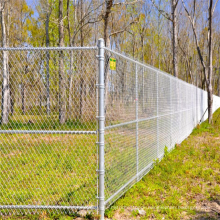 used galvanized and pvc coated chain link fence