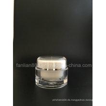 Runde Acryl-Creme-Flaschen für kosmetische Verpackungen