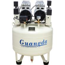 Compresseur d'air dentaire sans huile de compresseur d'air silencieux 70L 850W * 2