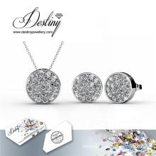 Destiny Jewelry Crystal From Swarovski Set Round Pendant AMD Earrings Crystal Set