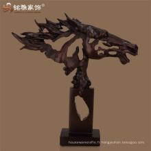 Table horse ornament abstract polyresin tête de cheval sculpture